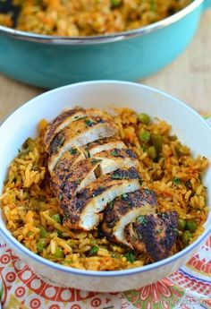 Slimming Eats Spanish Chicken and Rice - gluten free, dairy free, Slimming World and Weight Watchers friendly