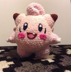 Crocheted Clefairy Pokemon.