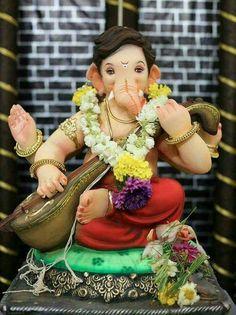 Ganpati bappa Lord Shiva, Lord Ganesha, Ganesha Art, Ganesh Images, Shree Ganesh, Shiva Shakti, God Pictures, Hare Krishna, Indian Gods