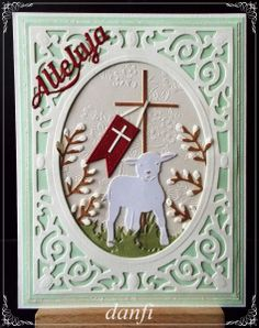 Wielkanoc 2016 (5) Happy Birthday Cards Handmade, Easter Cross, Flower Cards, Easter Eggs, Advent Calendar, Greeting Cards, Scrapbooking, Holiday Decor, Frame