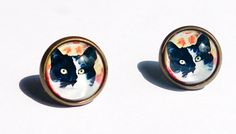 Love Cats Collection Earrings  Black and by boysenberryaccessory, $8.00