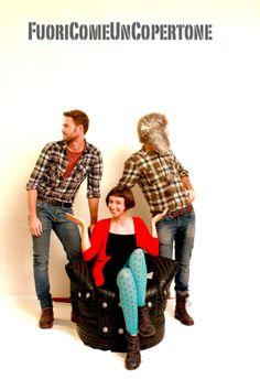 Daniel, Annalisa e Marco (Mascherino 86)per Fuori Come Un Copertone. #degonflage #fuoricomeuncopertone #pneumatici #poltrone