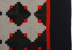 Mennonite Log Cabin Quilt   From a unique collection of antique and modern quilts at https://www.1stdibs.com/furniture/folk-art/quilts/