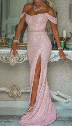 Sexy Evening Dress, Mermaid Evening Dresses, Formal Evening Dresses, Elegant Dresses, Evening Gowns, Dress Formal, Pink Mermaid Dress, Stunning Prom Dresses, Lovely Dresses