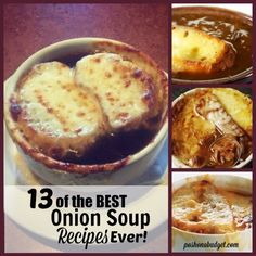 We typically enjoy our onion soup the 'French' way, with cheese and a bit of bread. The 'famous' restaurants may sell this onion soup for up to $10 a bowl, or even more. But, if you are like us, and you like to enjoy your soup at home, it is easy to make. 13 of the BEST Onion Soup #Recipes Ever