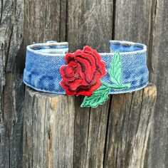 Denim choker, Jean choker, Blue jeans, Flower choker, Choker, Trendy Jewelry NEW & EXCLUSIVE...This seasons hottest TREND...FLORAL CHOKERS  get yours before there gone...more styles to come. ✌