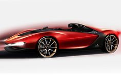 Pininfarina Sergio Concept Design Sketch