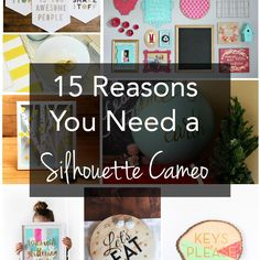 15 great Silhouette CAMEO projects!