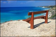 Cyprus, Mediterranean, bench, bench with a view, sea