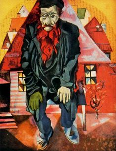 L'ebreo in rosa (Marc Chagall, 1915, Museo di Stato Russo, San Pietroburgo)