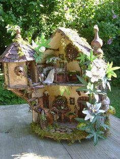 tree fairy house   Fairy House ~ Julie McLaughlin
