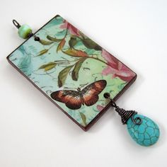 Pendant with bail and wrapped briolette for Colorful Reversible Necklaces - tutorial by Rena Klingenberg