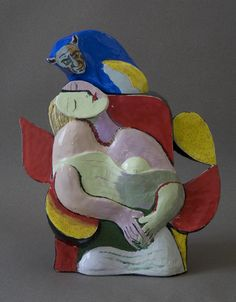 Ceramics-Earthen Ware-Noi Volkov: Teapot After Picasso