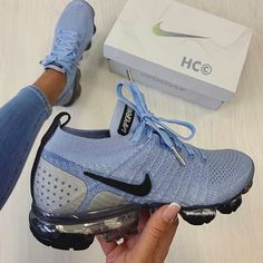 Shop Wmns Air VaporMax Flyknit 2 'Aluminum' - Nike on GOAT. We guarantee authenticity on every sneaker purchase or your money back. Moda Sneakers, Cute Sneakers, Sneakers Nike, Winter Sneakers, Nike Running Trainers, Womens Nike Trainers, Sneakers Workout, Gucci Shoes Sneakers, Nike Kicks