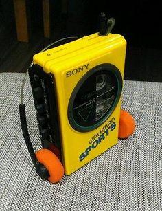 Vintage 1980s Sony Sports Walkman WM-35 *works great* Classic Yellow version #sony #walkman #1980s #retro #retro80s #audiotech #vintage #vintage80s