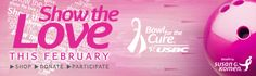 Show the Love during Bowl for the Cure month in February