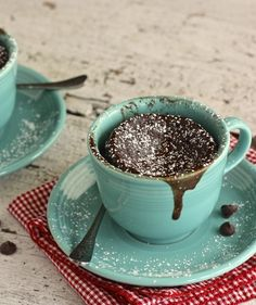 Chocolate Cake Cups | Grab your favorite mug (make sure it's microwave-safe!) and try one of these easy recipes for a sweet breakfast.