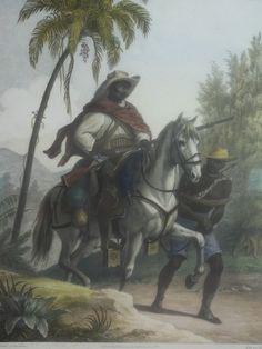 Johann Moritz Rugendas (1802-1858)- Slave hunter in Brazil
