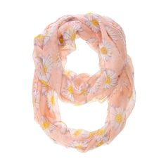 J Goodin Morden Fashion Style Sunflower Pink Infinity Scarf For Women