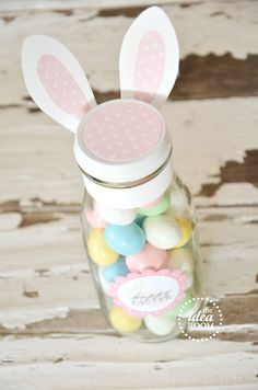 Easter bunny jars....CUTE!! theidearoom.net