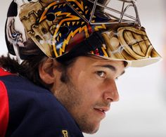 José Théodore... yet another ridiculously attractive hockey goalie.