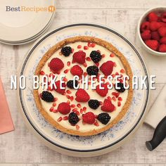 This easy no-bake cheesecake takes just 20 minutes prep time. This is very easy to make and great to eat. Easy No Bake Cheesecake, Baked Cheesecake Recipe, No Bake Desserts, Dessert Recipes, Cheesecake Desserts, Raspberry Cheesecake, Cheap Clean Eating, Clean Eating Snacks, Savoury Cake