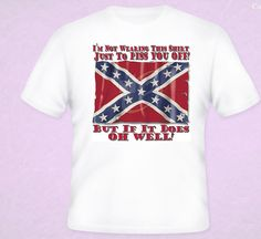 NEW Dixie Rebel Flag Funny T-Shirt White S-5XL Confederate Clothing COUNTRY NEW - T-Shirts