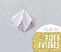 #diy how to make paper diamonds