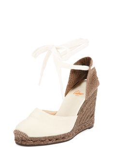 Carina 8 Ankle Tie Wedge Espadrille Sandal by Castaner at Gilt Espadrille Sandals, Espadrilles, Ankle Strap, Product Launch, Shoes Heels, Wedges, Fashion, Espadrilles Outfit, Moda