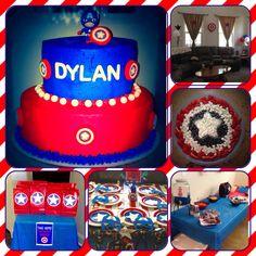 Captain America birthday party.
