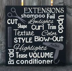 Hair Stylist Subway Art Sign Salon Sign Salon by OntheHilltop