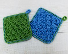 Crochet squares, hotpads - click on the picture to download the chart (Japanese)