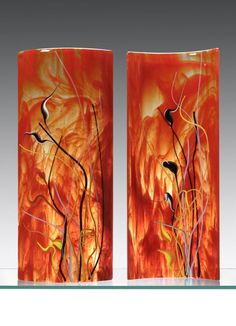 Dagmar Ackerman Glass Artwork, Glass Wall Art, Fused Glass Jewelry, Fused Glass Art, Glass Lights, Kiln Formed Glass, Stained Glass Panels, My Glass, Art Forms