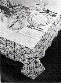 Lace Linen Table Cloth Free Crochet Pattern