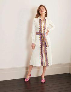 Isodora Midi Shirt Dress - Sky Blue, Deco Fan Dress Meaning, Midi Shirt Dress, Body Shapes, Poplin, Fit And Flare, Personal Style, Dresses For Work, Elegant, Long Sleeve