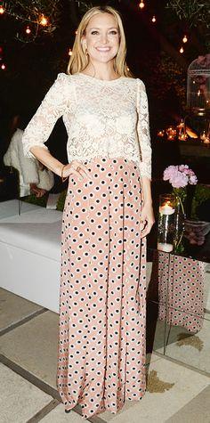 SHE S A STANDOUT • Kate Hudson s Polka Dots and Lace Strike the Perfect  Balance Kate Hudson 074645e1f27