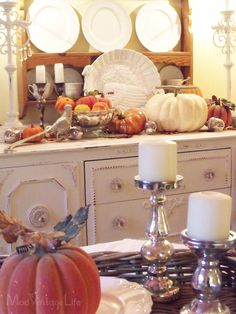 Mod Vintage Life: My Thanksgiving Decor 2012
