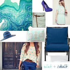 Cobalt & Mint #wedding #mybigday