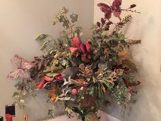 Flower arrangement in the master bathroom