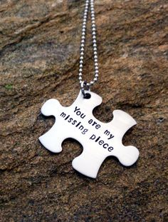 Personalized Puzzle Piece Necklace - Custom Necklace
