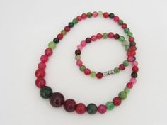Vintage Multi Color Tourmaline Glass Bead by wandajewelry2013