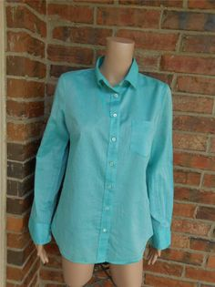 J CREW The Boy Shirt Sz 4 Women Voile Blouse Top Style 62765 Pocket 100% Cotton