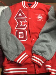 The product DELTA SIGMA THETA RED LETTERMAN JACKET is sold by GreekExpressions Embroidery Specialis… in our Tictail store. Tictail lets you create a beautiful online store for free - tictail.com