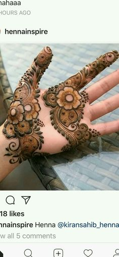 Hye friends did you like this? Basic Mehndi Designs, Floral Henna Designs, Mehndi Designs For Girls, Stylish Mehndi Designs, Mehndi Designs For Beginners, Mehndi Design Pictures, Wedding Mehndi Designs, Mehndi Designs For Fingers, Beautiful Henna Designs