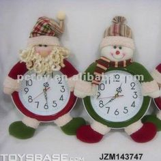 relog navideño Christmas Clock, Christmas Towels, Christmas In July, Christmas Projects, Christmas Humor, Winter Christmas, Merry Christmas, Felt Christmas Decorations, Christmas Ornaments