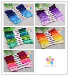 Multi colors option 6 shares length 7m anchor cross stitch cotton embroidery thread 8pcs/lot,7m/pc  033005029