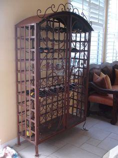 Custom Wrought Iron Wine Rack