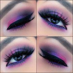 #eyes pink & purple