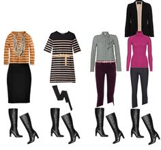 """""""Casual Work Day - Black Knee-High Boots"""" by jmcdearmon on Polyvore"""