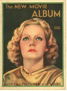 THE NEW MOVIE ALBULM GRETA GARBO ON COVER 1930